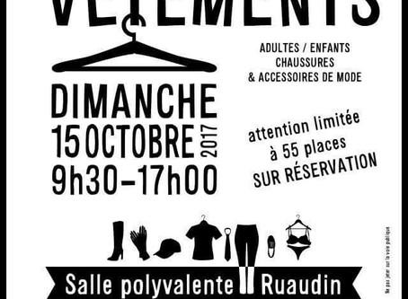 Urgent :Inscriptions Bourse aux vêtements prévue le 15 octobre