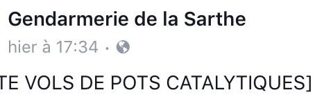 Gendarmerie de la Sarthe : nouvelle alerte