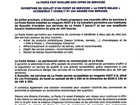 """La Poste de Ruaudin """"évolue"""""""