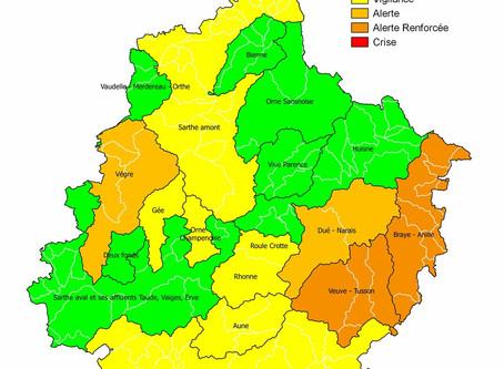 Vigilance sécheresse pour Ruaudin