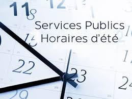 Services Publics :Attentionhoraires d'été
