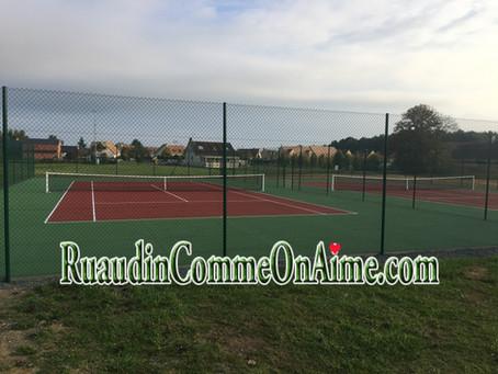 Ruaudin :Terrainsde tennis flambants neufs