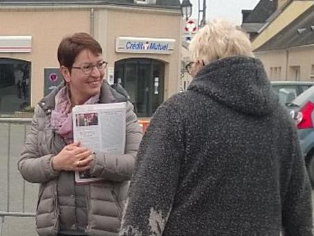 Elections Législatives, Marietta Karamanlicandidate à sa propre succession de passage à Ruaudin