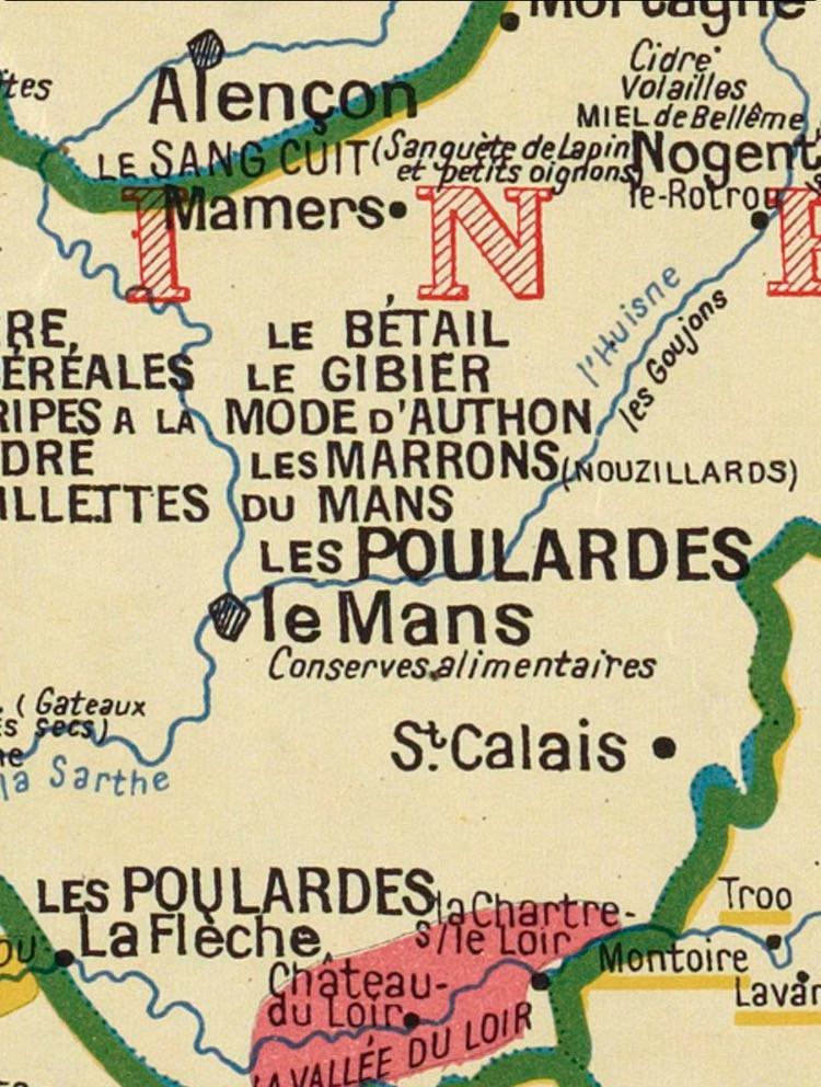 La carte gastronomique de la France par A.Bourguignon (Site de la Bibilothèque Nationale de France) - A.Bourguignon + BNF