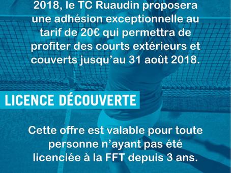 Tennis Club de Ruaudin :Promo été