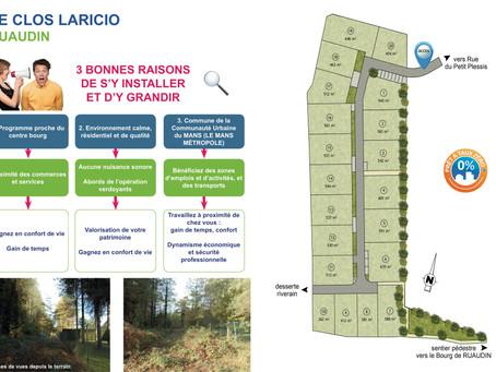 Un nouveau lotissement à Ruaudin :Le clos Laricio mis en attente!