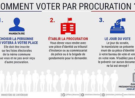 Rappel : voter par procuration