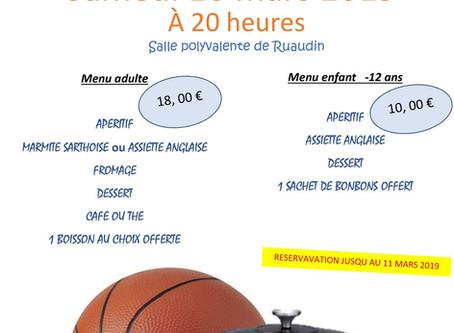JSR Basket : inscription soirée dansante