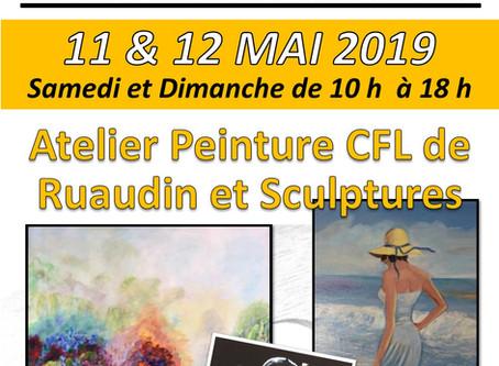 Exposition de l'atelier de peinture de Ruaudin