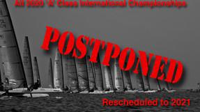 All international events postponed.