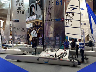 Two 'A' cats at the London Dinghy Show.
