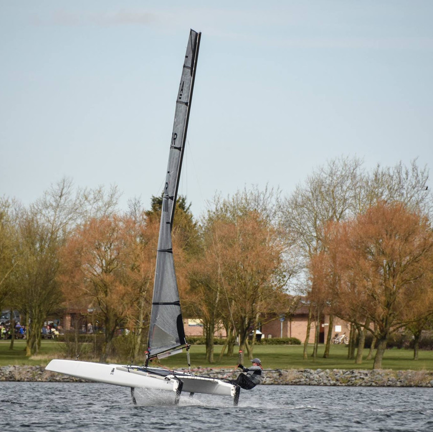 Mike Bawden foiling