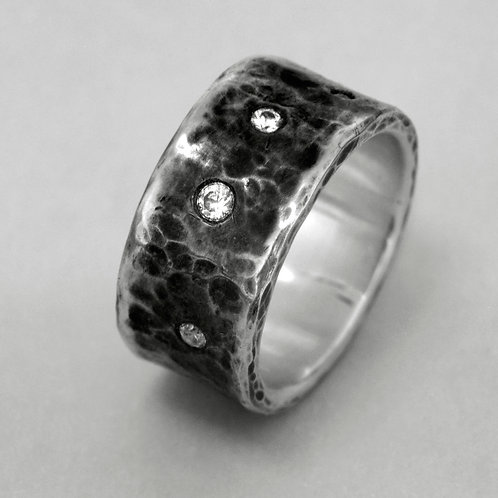 "Silver ring ""Stars"""