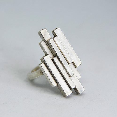 """Silver """"Bauhaus"""" Ring"""