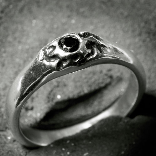 "Silver cast ring ""Volcano"""