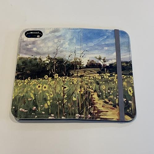 'Sunflower Path' in  Folio Wallet phone case