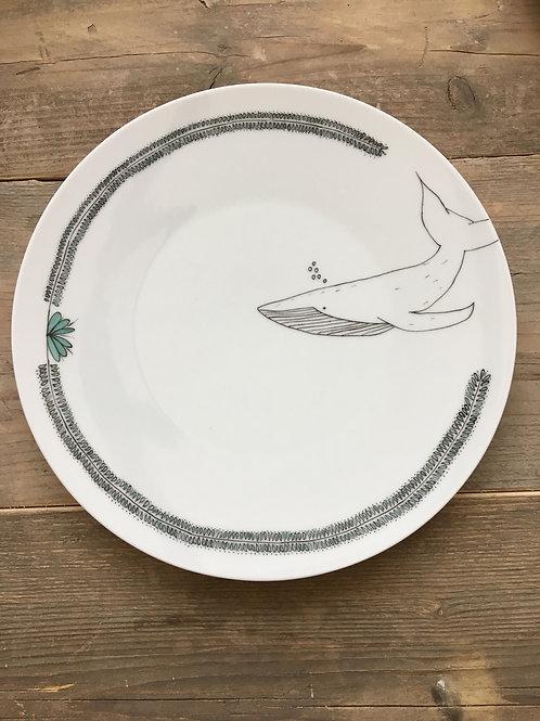 Grande assiette Baleine