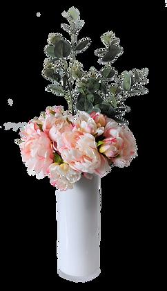 Bouquet PIVOINES M PK Vase verre Blanc