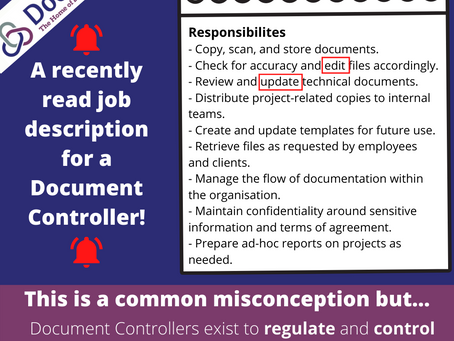 A common misconception about the role of a Document Controller