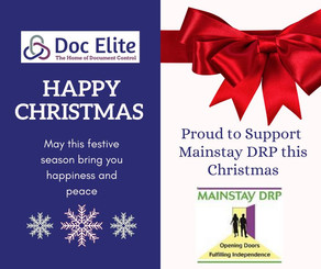 Proud to support Mainstay DRP this Christmas.