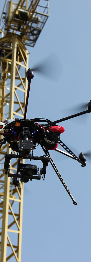 Drone autorizzato DGAC con fotocamera