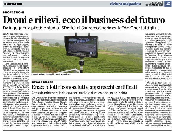 Droni e rilievi: ecco il business del futuro
