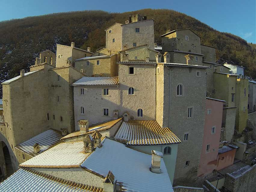 Rilievo aerofotogrammetrico con drone. Borgo di Postignano (PG)