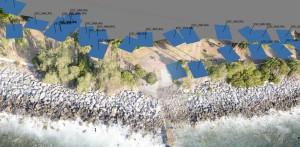 Rilievo aerofotogrammetrico scogliera Sanremo