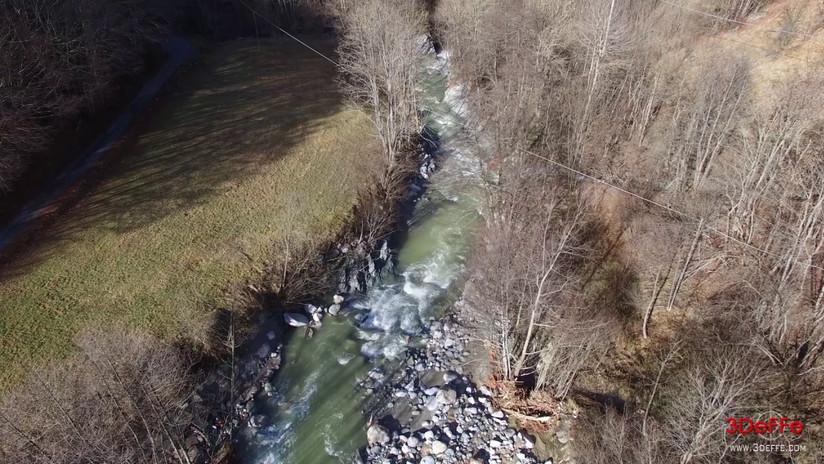 Rilievo aree franate post alluvione Garessio (CN)