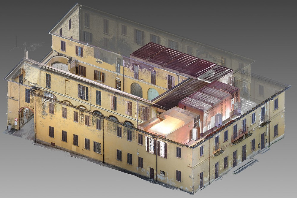 TOPOGRAFIA – FOTOGRAMMETRIA – LASER SCANNER: Il rilievo integrato di Villa Landriani a Bernareggio (MB)