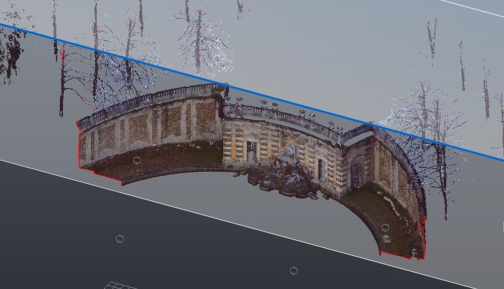Rilievo laser scanner e fotogrammetrico della Fontana dei Collino