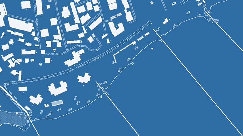 Inserimento dei GCP e dei punti rilevati in GIS e tracciamento delle sezioni batimetriche