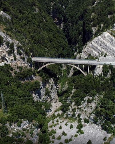 """ponte Sul Liscione, Arcichiaro (CB), detto Ponte """"Morandi"""""""