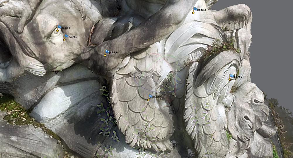 Gruppo scultoreo della Fontana dei Collino - NAVIGA NEL MODELLO