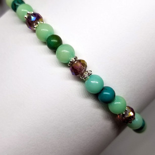 Swarovski Crystal and Turquoise Custom Anklet