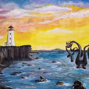 Kraken by the Lighthouse