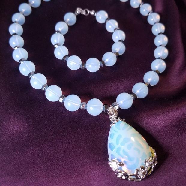 Hematite Opalite Necklace
