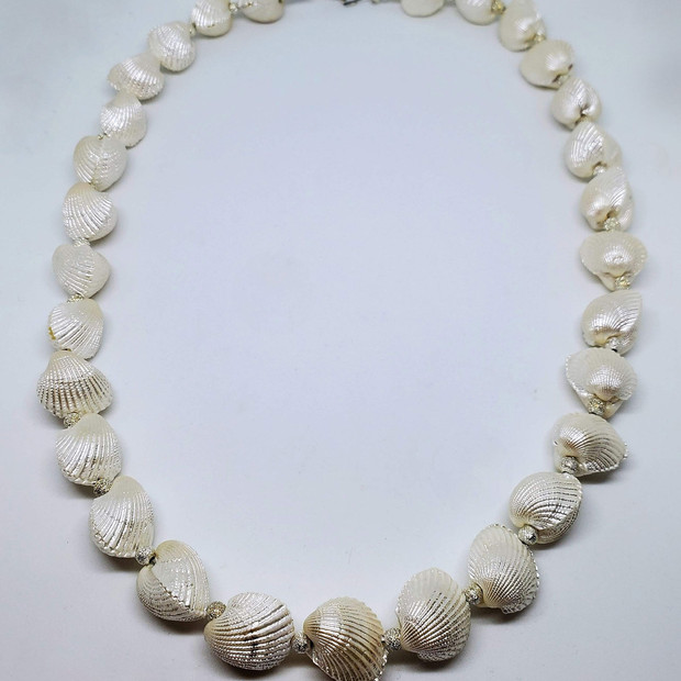 Seashell and Stardust Bead Necklace