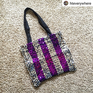 Upcycled Sequin Purse