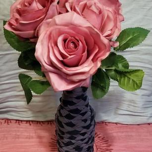 Wrapped Fabric Bottle Vase