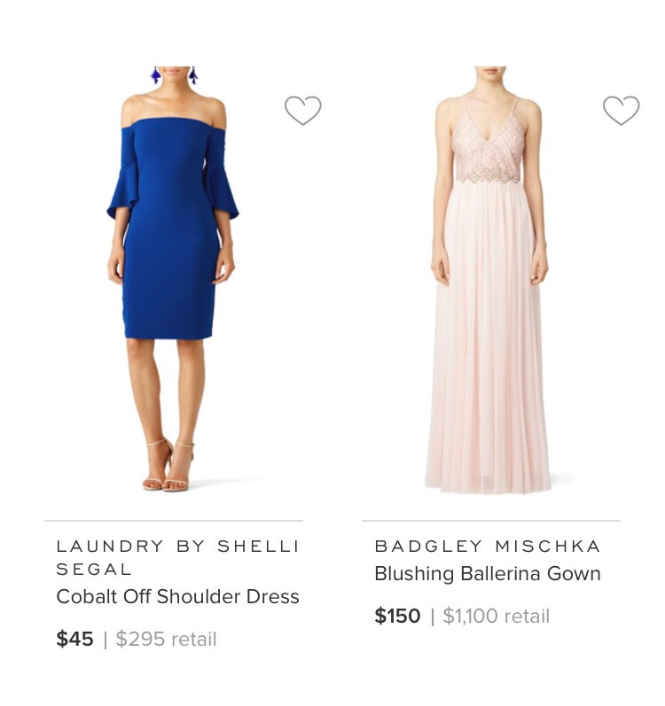 Yes This Royal Blue off the shoulder dress| Not This Pastel Pink Gown