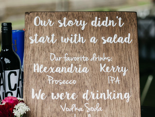 Thirsty Thursday | Signature Drink Signs at Weddings