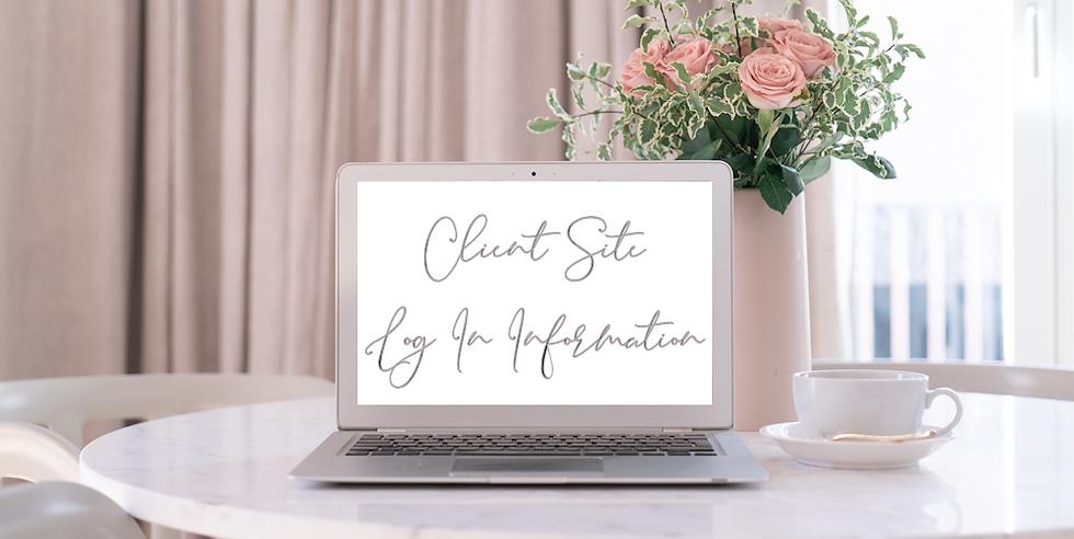 SAS Weddings Client Site Log In