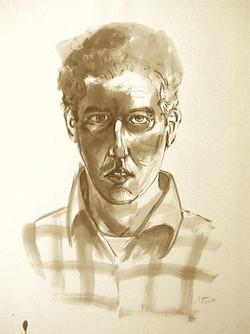 Self Portrait w/Plaid Shirt