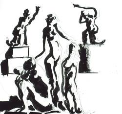 Figures w/ Sculptures