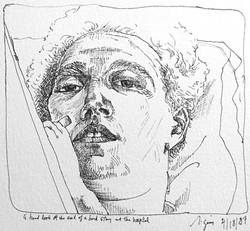 Self Portrait Hospital Stay '87