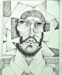Self Portrait w/Cut Outs '74