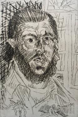 Self Portrait w/Little Fgures'76