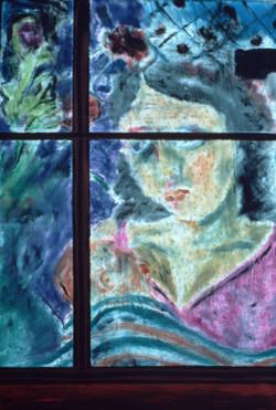 Woman w/Baby in Window