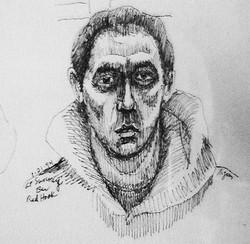 Self Portrait at Sunny's Bar